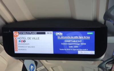 Trouver un emploi en prenant le bus – DK'BUS innove et lance la diffusion d'offres geolocalisées sur les 18 lignes de son réseau